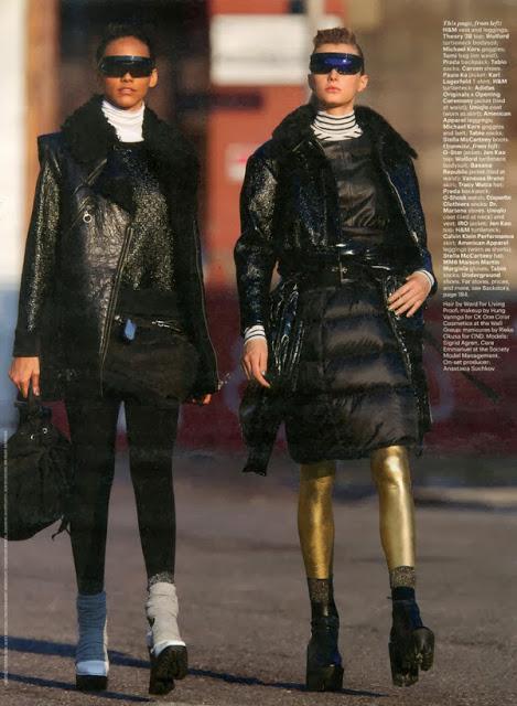 Cora Emmanuel & Sigrid Agren For W Magazine October  2013